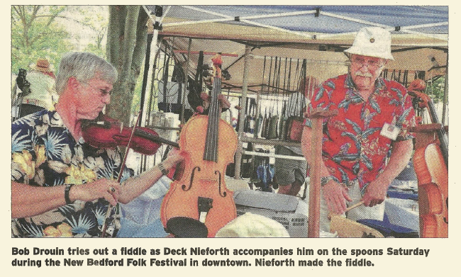 Bob Druoin and Deck Neiforth at the New Bedford Folk Festival